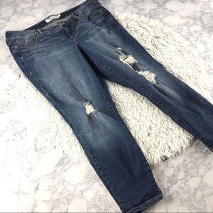 Torrid Distressed Stretchy Skinny Jeans EUC